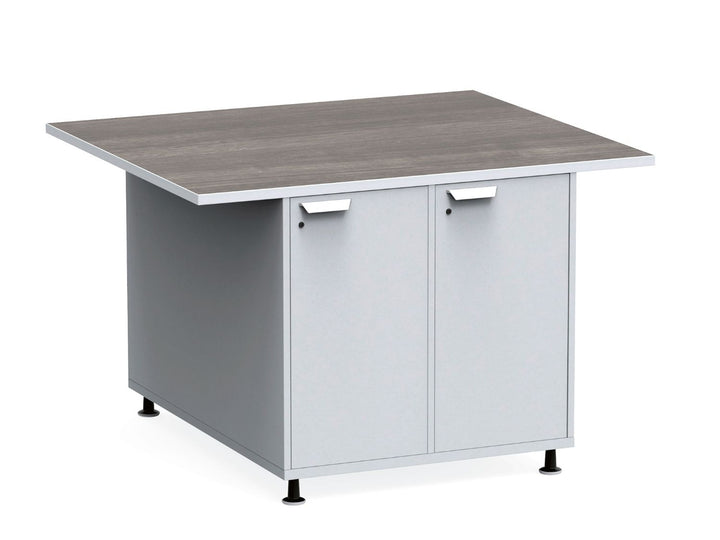 "KI RKW364836DR Ruckus Mobile Double Sided Worktable with Locking Doors 36""H"
