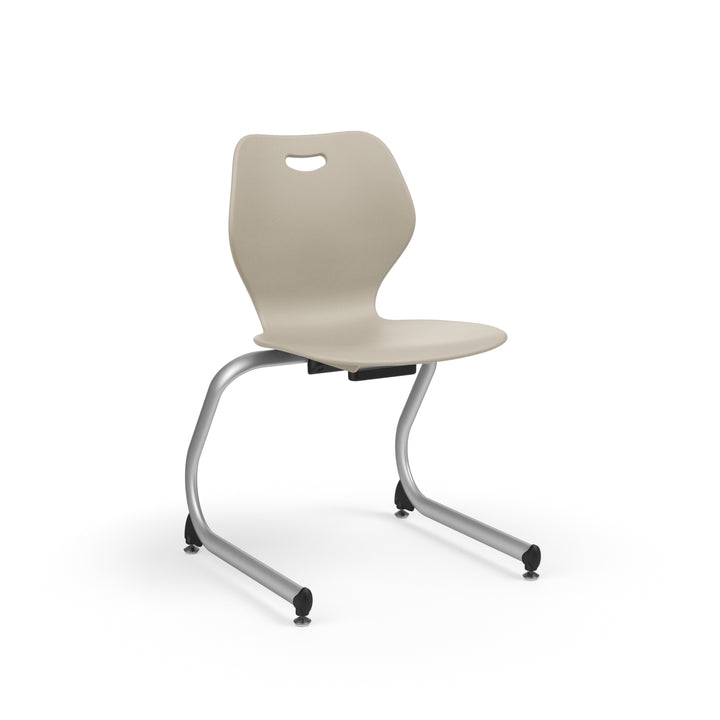 "KI IWC18BR Intellect Wave Cantilever Stack Chair with Book Rack 18"" Seat Height - Free Shipping"