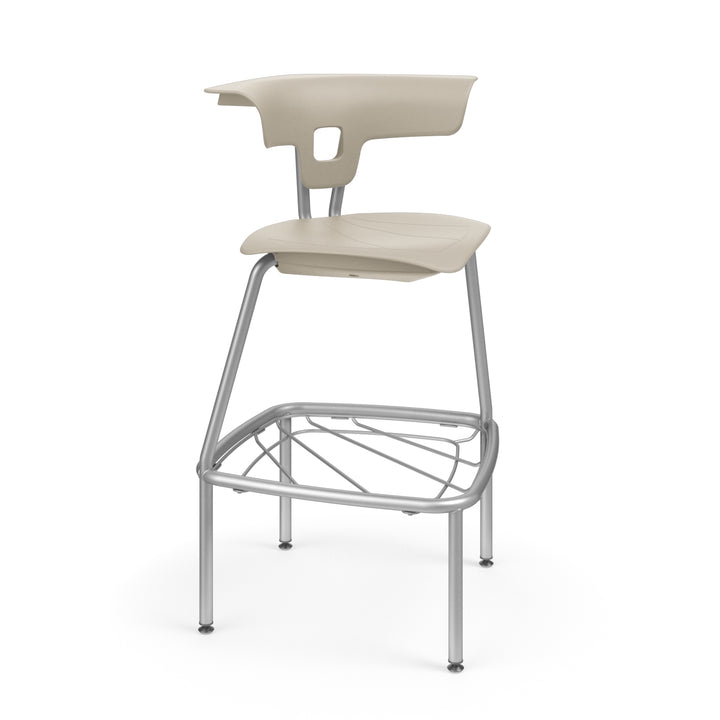 "KI RK4100H24BR Ruckus Plastic Stack Stool with Book Rack 24"" Seat Height - Free Shipping"