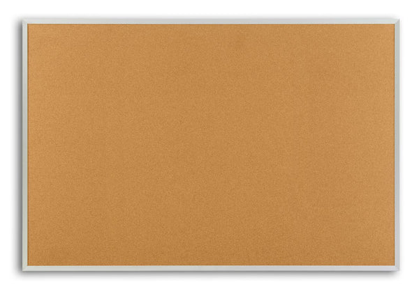 Marsh AN408-1400-0000 Natural Cork Board with Aluminum Frame 4 x 8