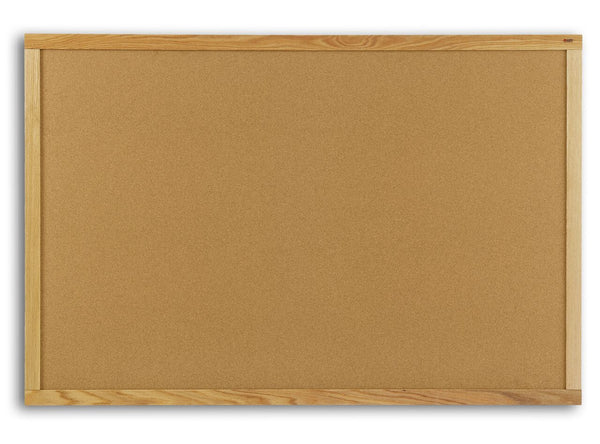 Marsh AN406-7500-0000 Natural Cork Board with Oak Frame 4 x 6