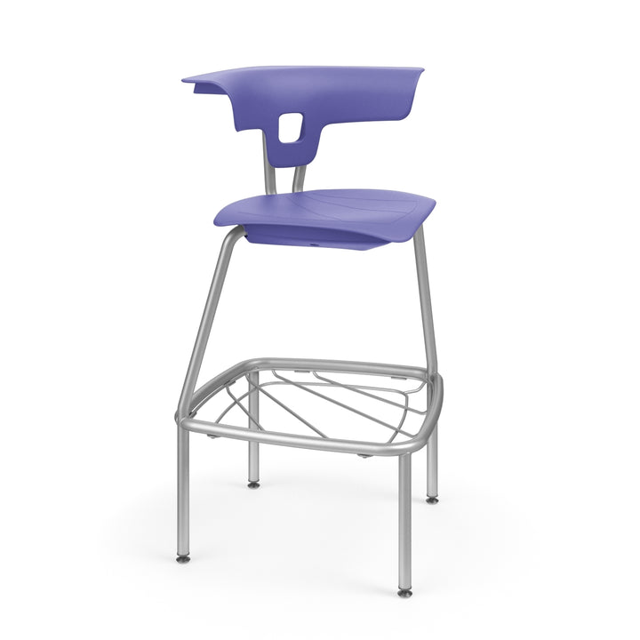 "KI RK4100H30BR Ruckus Plastic Stack Stool with Book Rack 30"" Seat Height"