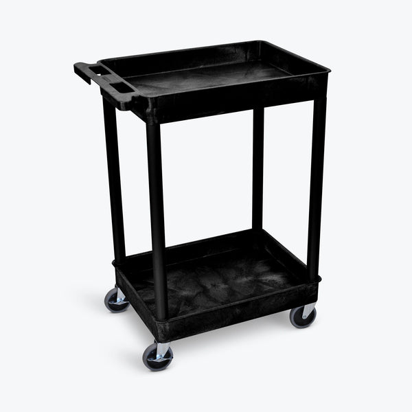 Luxor STC11-B Two Shelf Utility Cart 24 x 18