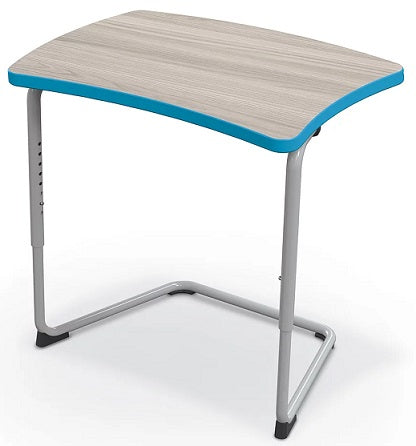 Balt 84390-C Hierarchy Adjustable Classroom Cantilever Desk with Straight Top and Platinum Frame