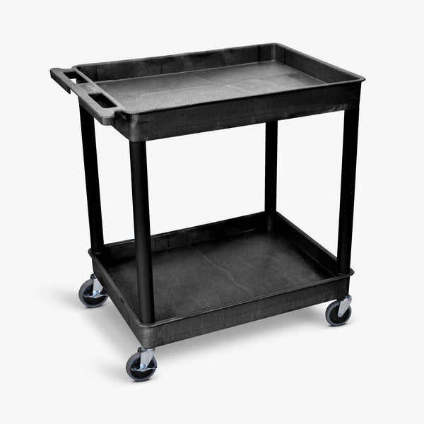 Luxor TC11-B Large Two Shelf Utility Cart 32 x 24