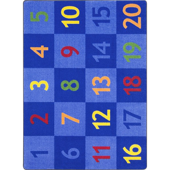 Joy Carpets 2022 Time to Count Area Rug - Rectangle