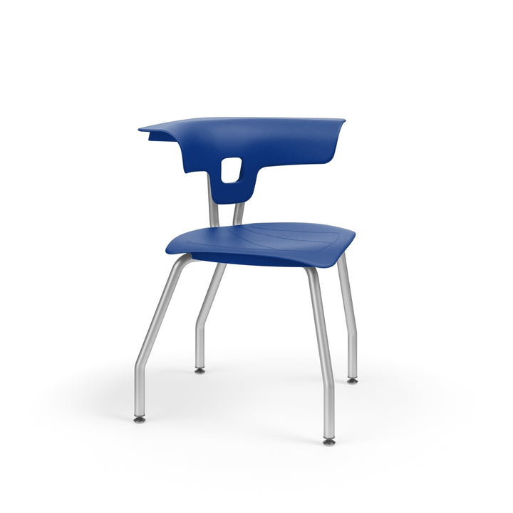 "KI RK1100H18NB Ruckus Plastic Chair without Book Rack 18"" Seat Height"