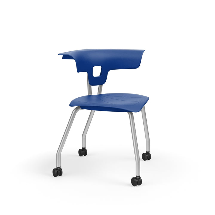 "KI RK2100H18NB Ruckus Plastic Chair with Casters 18"" Seat Height"