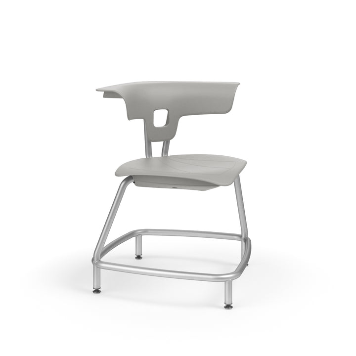 "KI RKU100H18NB Ruckus Plastic Stack Chair without Book Rack 18"" Seat Height"