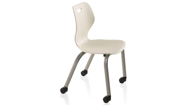 "KI IW415C Intellect Wave Mobile 4 Leg Stack Chair 15"" Seat Height - Free Shipping"