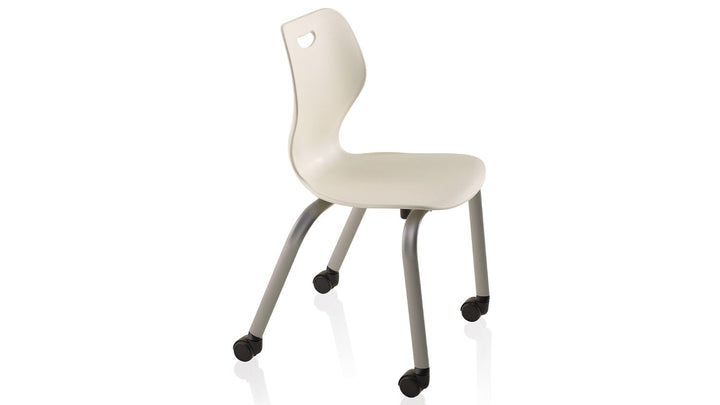 "KI IW415C Intellect Wave Mobile 4 Leg Stack Chair 15"" Seat Height"