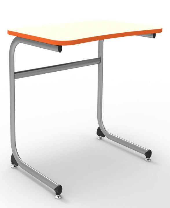 "KI IWDCL/27 Intellect Wave Cantilever Student Desk with Laminate Top Fixed 27"" Height"