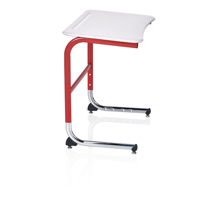 KI IWDCH/A Intellect Wave Cantilever Student Desk with Hard Plastic Top Adjustable Height