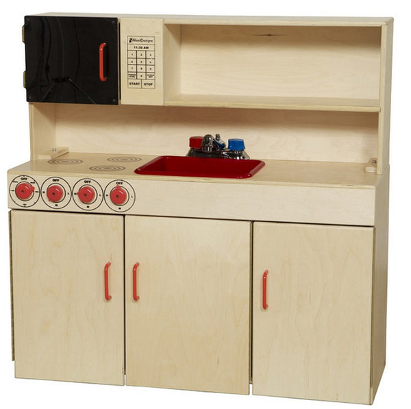 Wood Designs WD10800 5-N-1 Play Kitchen Center