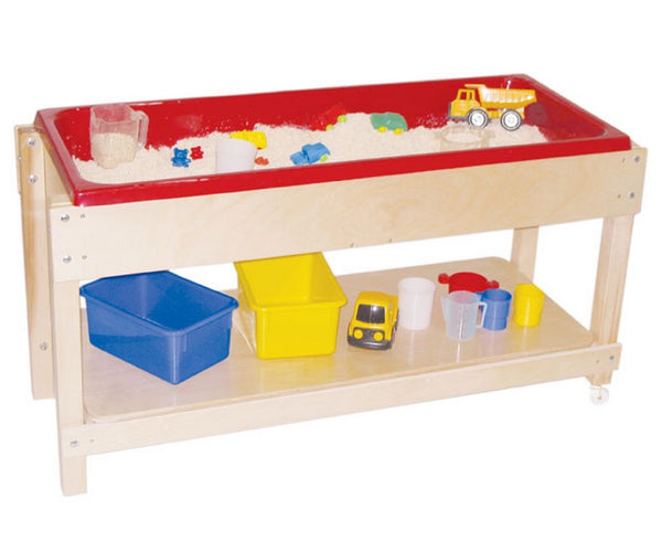 Wood Designs WD11810 Sand and Water Table with Shelf Lid