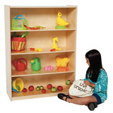 "Wood Designs WD12900 Classroom Bookshelf with 4 Fixed Shelves - 49"" Height"