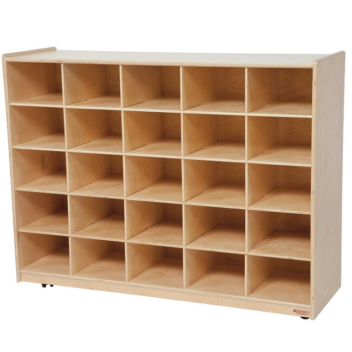 Wood Designs WD16009 Mobile Cubby Storage - 25 Openings