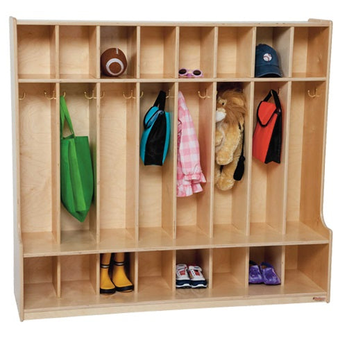 Wood Designs WD51008 Eight Section Locker with Seat