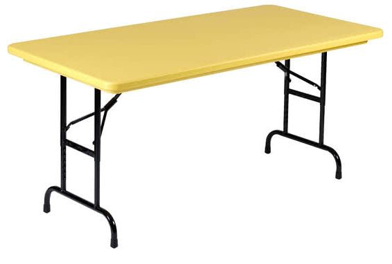 Correll R3072-28 Heavy Duty Fixed Height Blow-Molded Folding Table 30 x 72