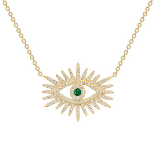 Third eye diamond necklace 14k