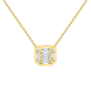 Baguette Diamond necklace 14k