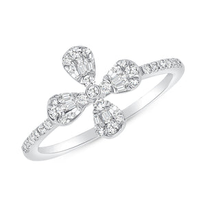 Illusion flower ring 14k