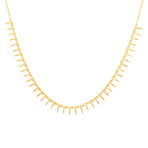 Diamond spike necklace 14K