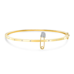 Safety pin bangle 14 k