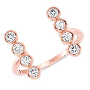 14k Bella Rose Diamond Ring