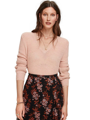 maison scotch - chandail 153163 - rose