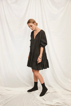 soaked in luxury- robe- ample- noire-30404100- boutique modeco- canada