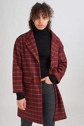 24colours - manteau - 90253 - bordeaux - long - doux