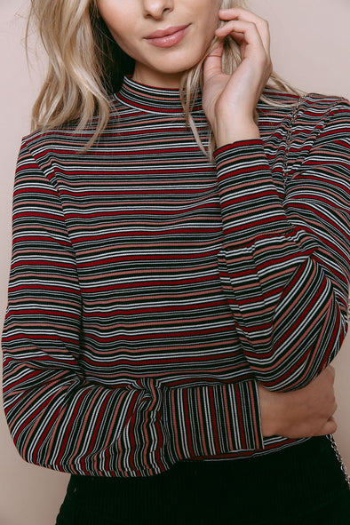 orb - 931166 - carmen - chandail - burg stripe-mock neck
