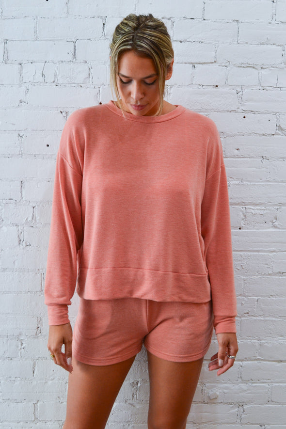 Mary Boxy Longsleeves Sunset