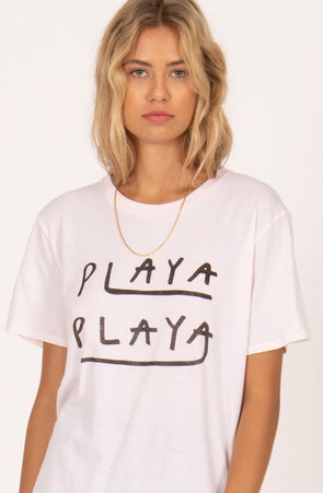 t-shirt- playa playa- amuse society- 100% coton