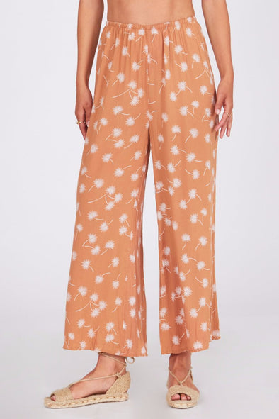 amuse society - barefoot - pantalon - leger - orange - fleurs