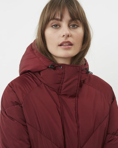 minimum - manteau diitta - 6082 - long - marron - chaud