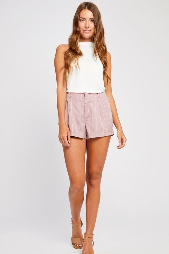 short- ligné- rose- gentle fawn- shorts