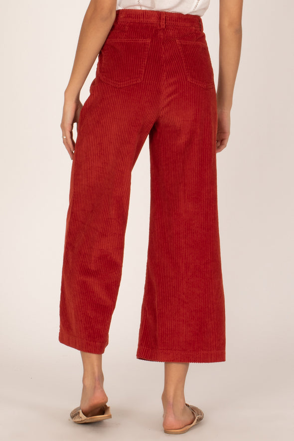amuse society - good company - pantalon corduroy - rouge