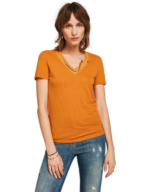 t-shirt- maison scotch- scotch and soda- moutarde- vert