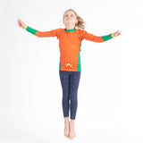 Fusion Aquaman Kids BJJ Rash Guard- Long Sleeve
