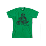 Ground Fighter Kids BJJ Blocks Shirt - Green