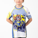 Fusion Batgirl Kids Rash Guard- Short Sleeve
