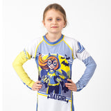 Fusion Batgirl Kids Rash Guard- Long Sleeve