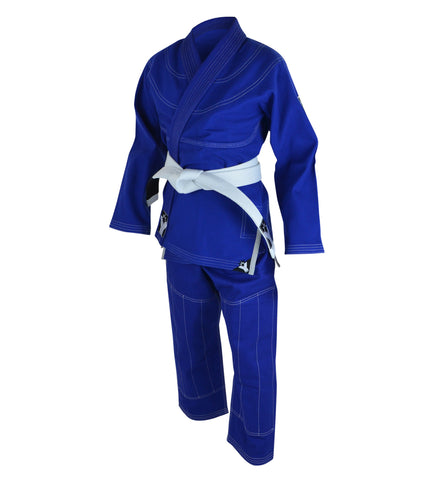 Combat Corner YoungStar Youth Brazilian Jiu Jitsu Form2 GI (Blue) – Free White Belt