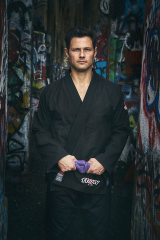 Flow Kimonos BJJ Gi Air - Black