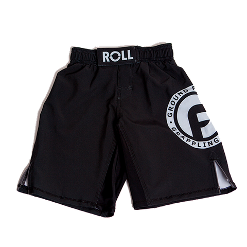 Ground Fighter Roll Kids Grappling Shorts - Black