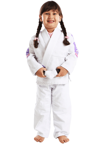 Vulkan Pro Light Kids Jiu Jitsu Gi White / Lilac