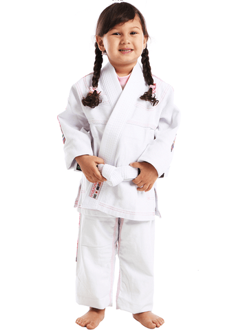 Vulkan Ultra Light Kids Jiu-Jitsu Gi White/Pink