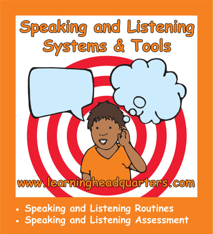 Kindergarten: Speaking and Listening Systems & Tools